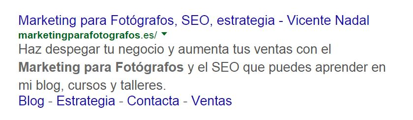 errores de seo - descripción meta - marketing para fotografos