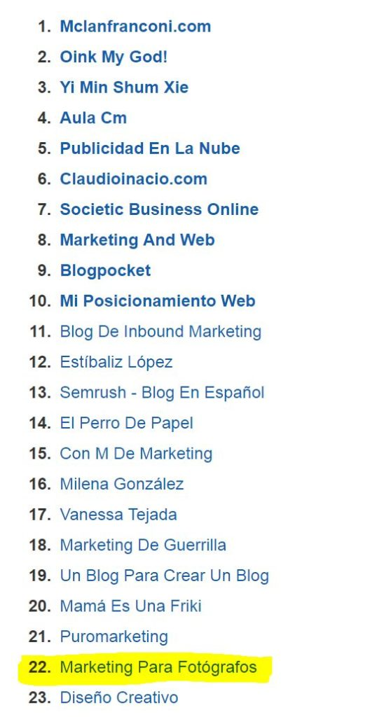 clasificación XII premios bitácoras 2016 mejor blog de marketing online y social media