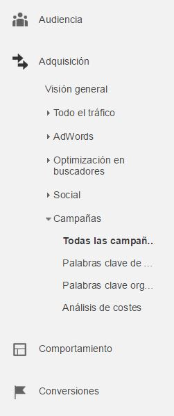 Google analytics campañas- etiquetar enlaces