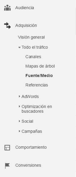 Google analytics fuentes - etiquetar enlaces